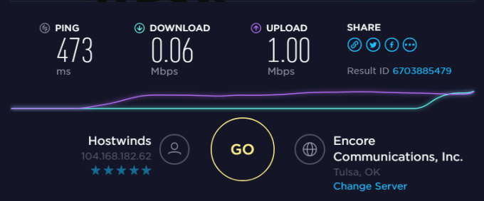 test speed of nordvpn server in USA