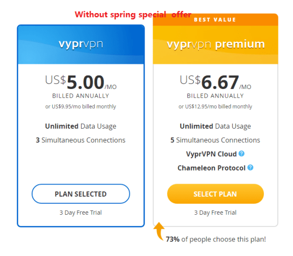 vyprvpn plan without no special vpn discount