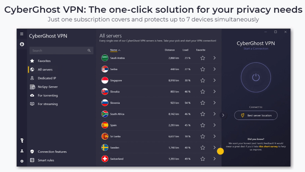 CyberGhost VPN The one click solution for your privacy needs