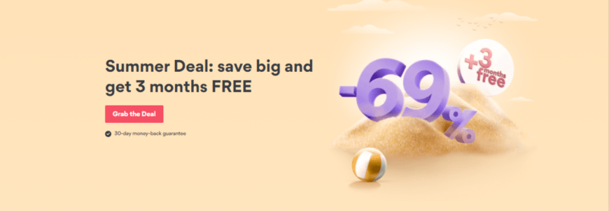 Summer Deal: save big and get 3 months FREE