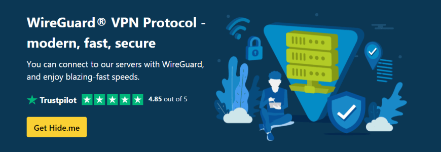 WireGuard VPN protocol for fast and secure connections hide me