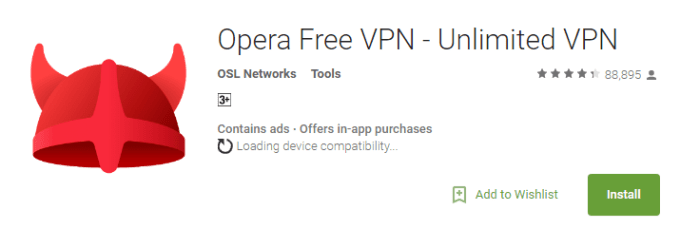 opera vpn for pc