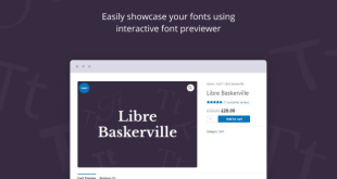 Jeg Font Preview - WooCommerce Extension WordPress Plugin - 1