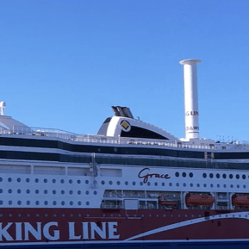 Viking Grace in operation with Norsepower Rotor Sail