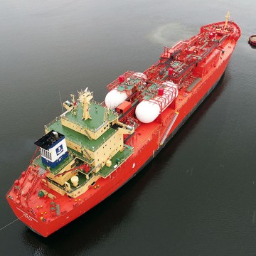 Dual-fuel LNG engine converted to ethane