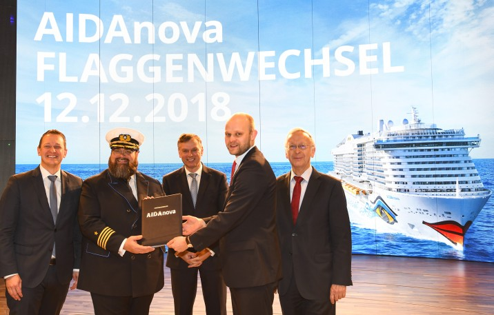 LNG-powered vessel delivered to AIDA Cruises