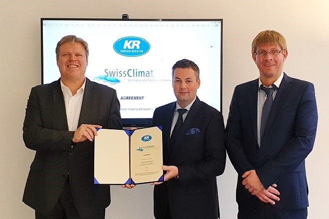 Swiss Climate EcoCare and KR sign MoU on IMO DCS