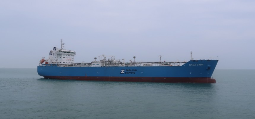 Saga LNG carrier completes gas trials with new containment system