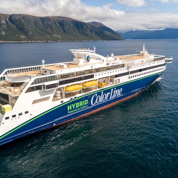 Color Line takes delivery of plug-in hybrid vessel