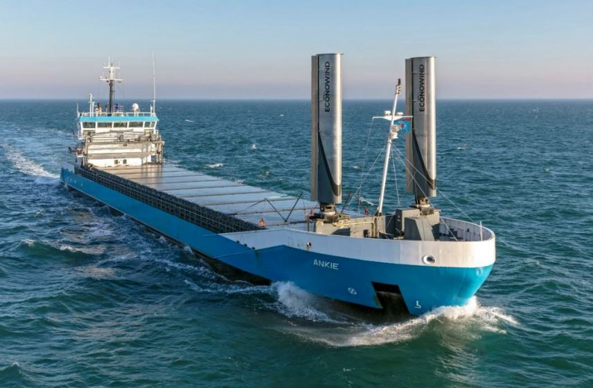Wind-assisted cargo ship starts North Sea operations