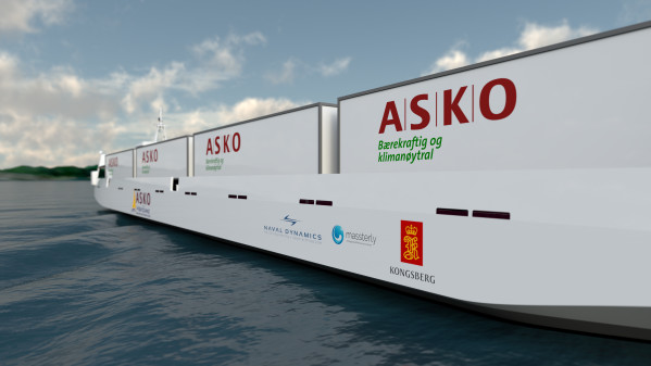 Kongsberg and Massterly equip zero-emission autonomous vessels for ASKO