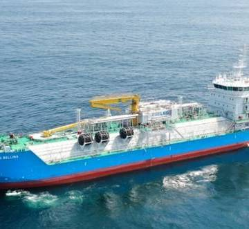 K Line commences technical management of Singapore's first LNG bunkering vessel