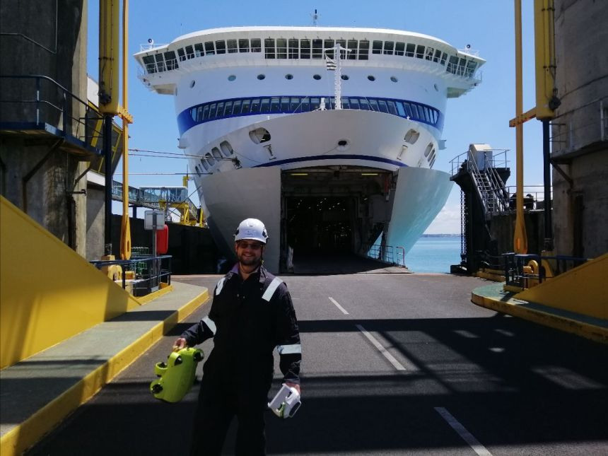 Brittany Ferries completes first remote in-water hull survey with MaDfly drone