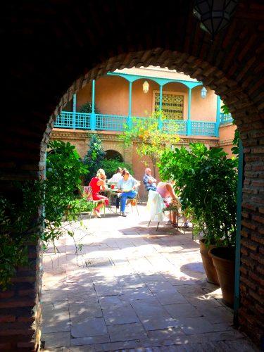 coffeeshop in majorelle garden
