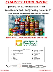 Charity Food Drive - Hosted By VP Security