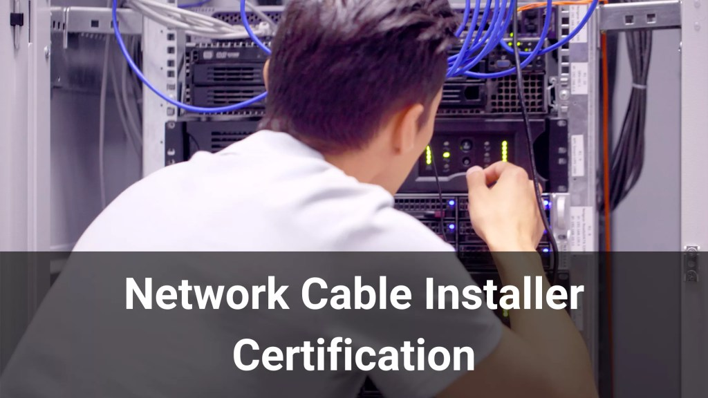 Network Cable Installer Certificate ECS Card