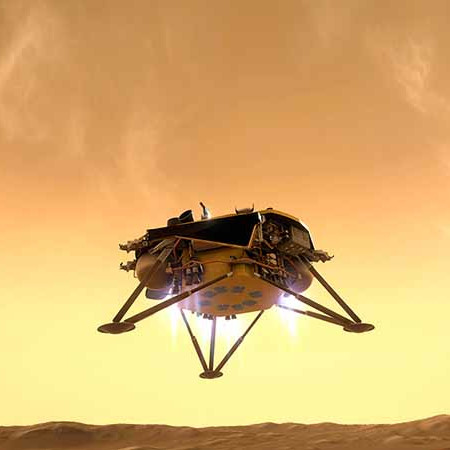 atterrissage de la sonde InSight en realite virtuelle