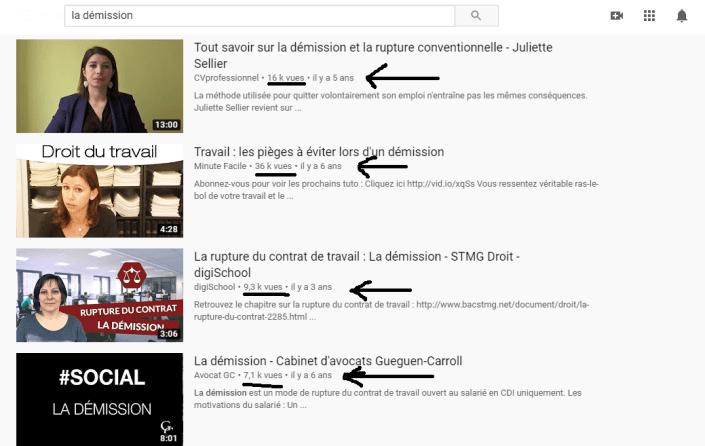La démission_nombre de vues youtube