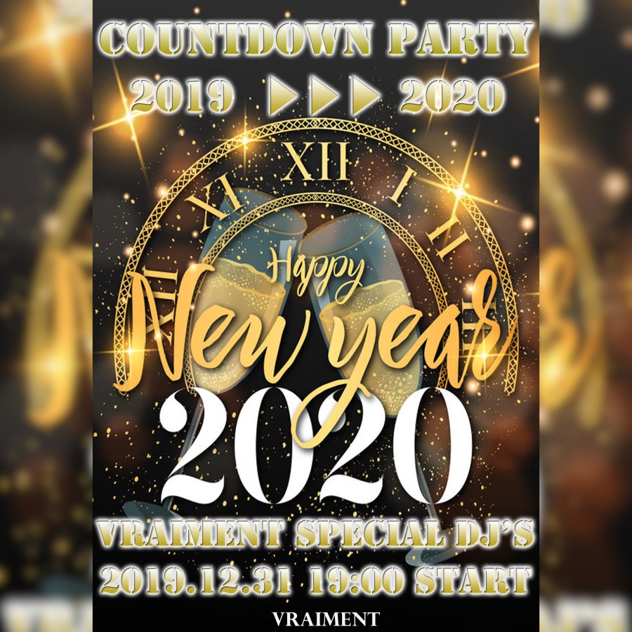 【12月31日】☆COUNT DOWN PARTY☆2018→2019