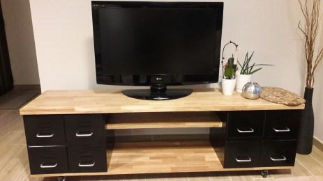 construire un meuble tv industriel diy
