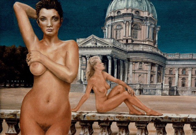 """Oil Paint: """"Baroque"""", to nudes with palace"""
