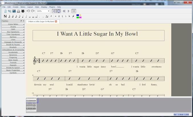 MuseScore Lead Sheet Plug-in