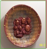 Wicker and polymer clay