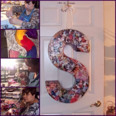 large Letter S created for Saniya with her photos