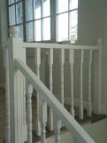 Balustrada lemn stejar alba