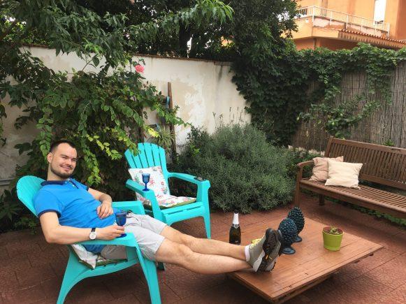 Первый день в Сицилии, 01.10.16, открыли шампанское от нашего хоста