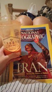 Читаю старый выпуск NatGeo и пью сок (Яблоко, морковь, имбирь и еще что-то) в ожидании Каримаджо
