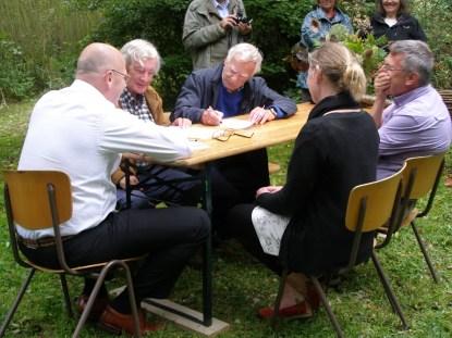 Ondertekening oprichtingsakte