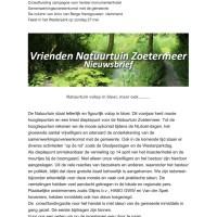thumbnail of Nieuwsbrief april 2018 in Natuurtuin