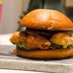 Chili Chicken Nugget Burger