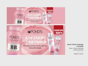 Pond's Week Campaign in Lazada