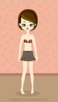 Mini Frilled Skirt / Kh09HJ