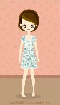 Flower cute dress / bl09D