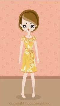 Flower Frilled Dress / Yw09D
