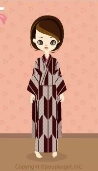 Kimono-Ichimatsu Arrows / 10A
