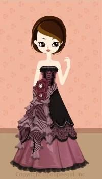 Gothic ribbon dress / 09F