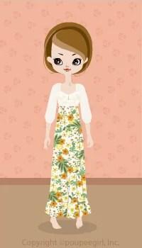 Flower Long Dress / Yw09D