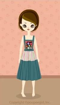 Dutch style flower dress / bl09C