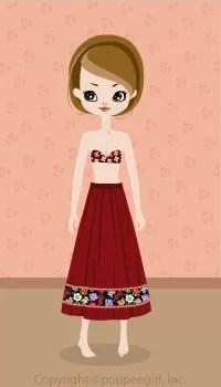 Flower skirt / rd09C