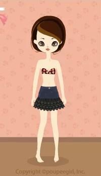 Frilly denim skirt / bk09L