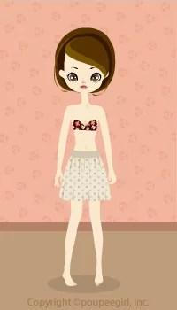 Natural dot skirt / bg09G