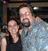 Vanessa with Joey DeFrancesco; Vanessa's jam session during the Montreal Jazz Festival, Montreal QC, 2002