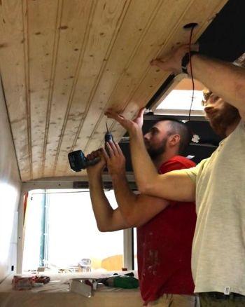 plafond vrolijk op reis bus camper