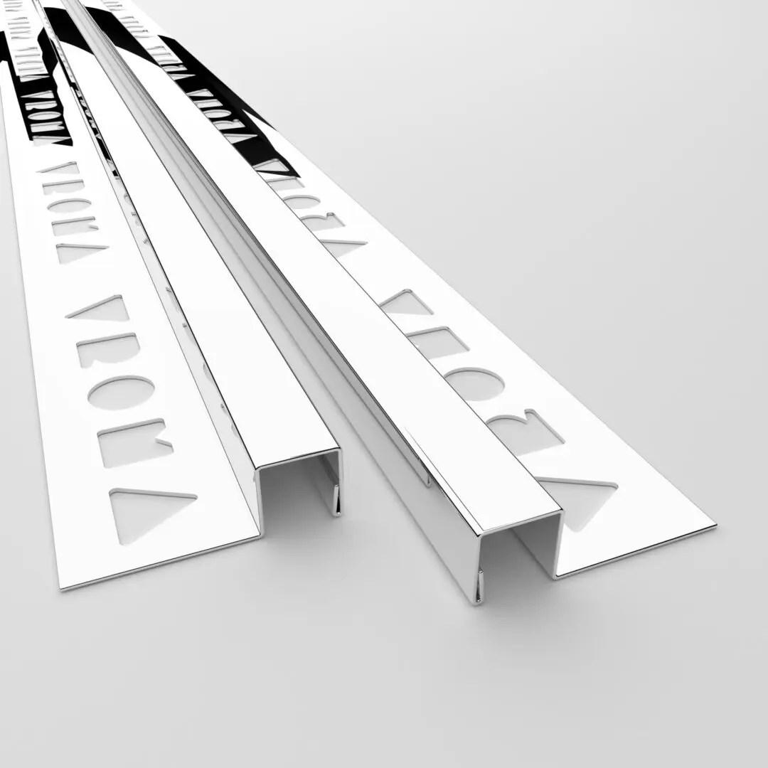 vroma mirror chrome box shape 2 5m heavy duty 304 stainless steel tile trims