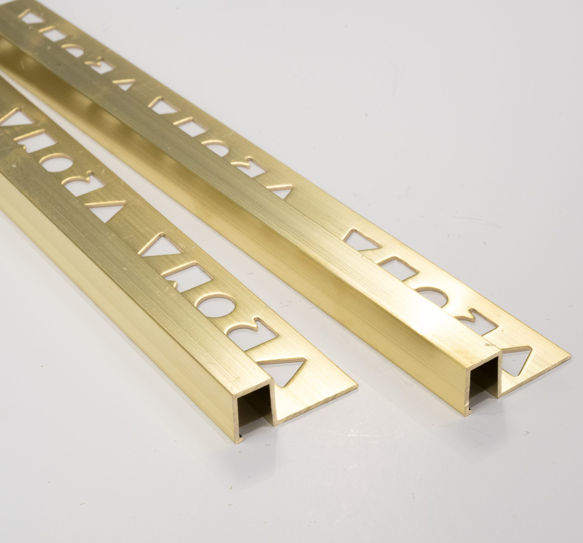vroma brass natural finish box shape 2 5m heavy duty brass tile trims