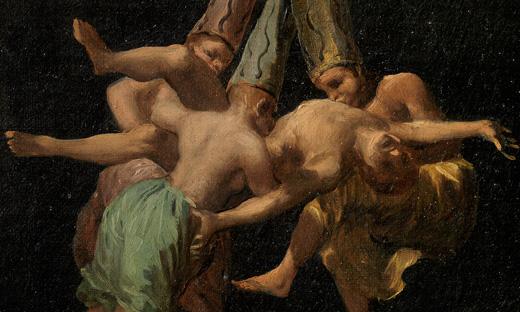 Goya fragment vliegende heksen
